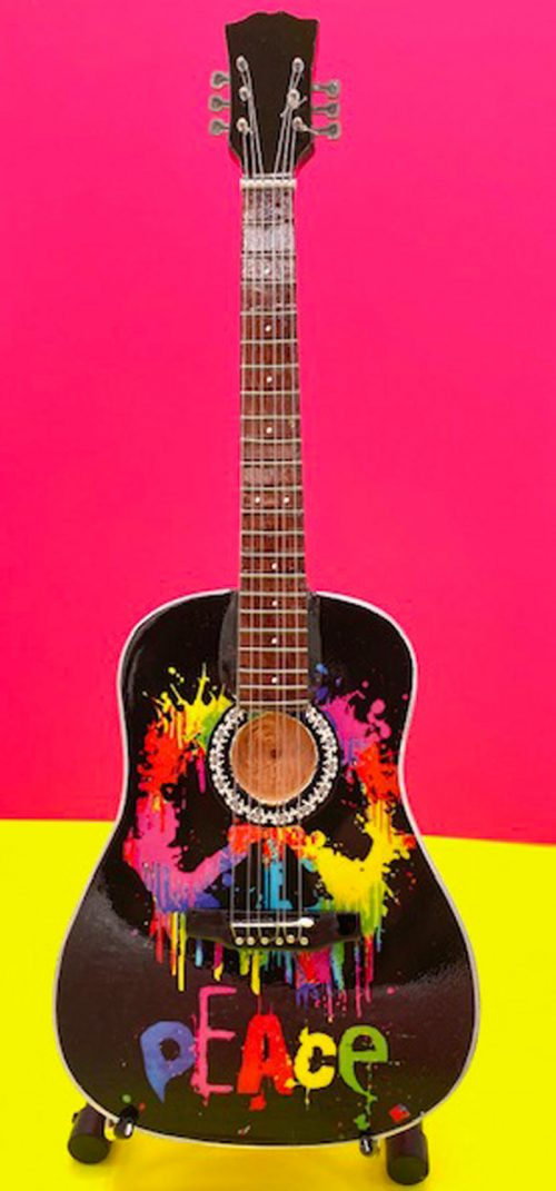 'Peace' Acoustic Guitar