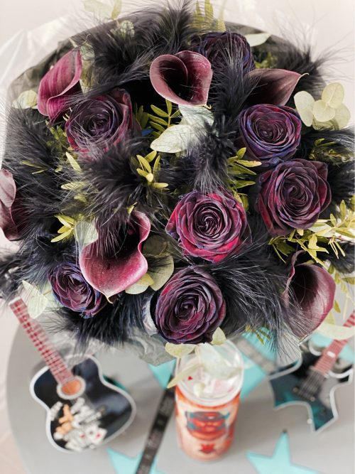 Bouquet of black flowers