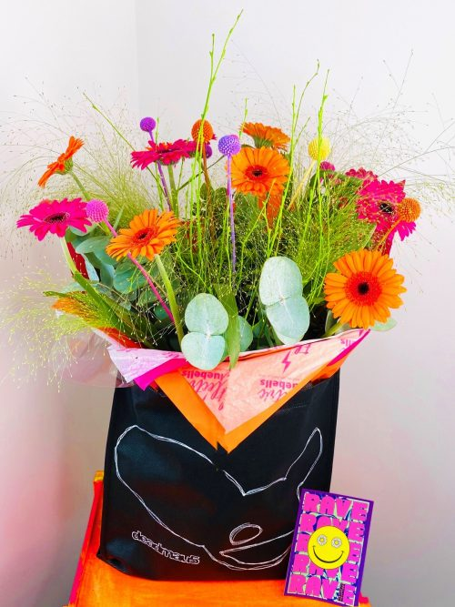 Bouquet of brightly coloured flowers