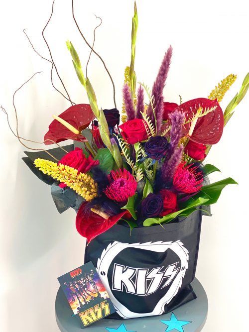 Bouquet of different coloured flowers